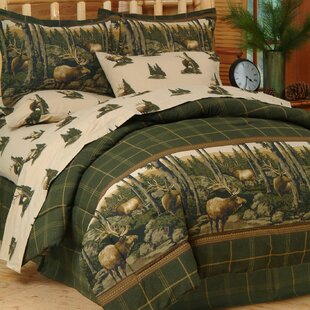 sets quilt twin country quilts cabin log bedding comforters lake trout queen comforter
