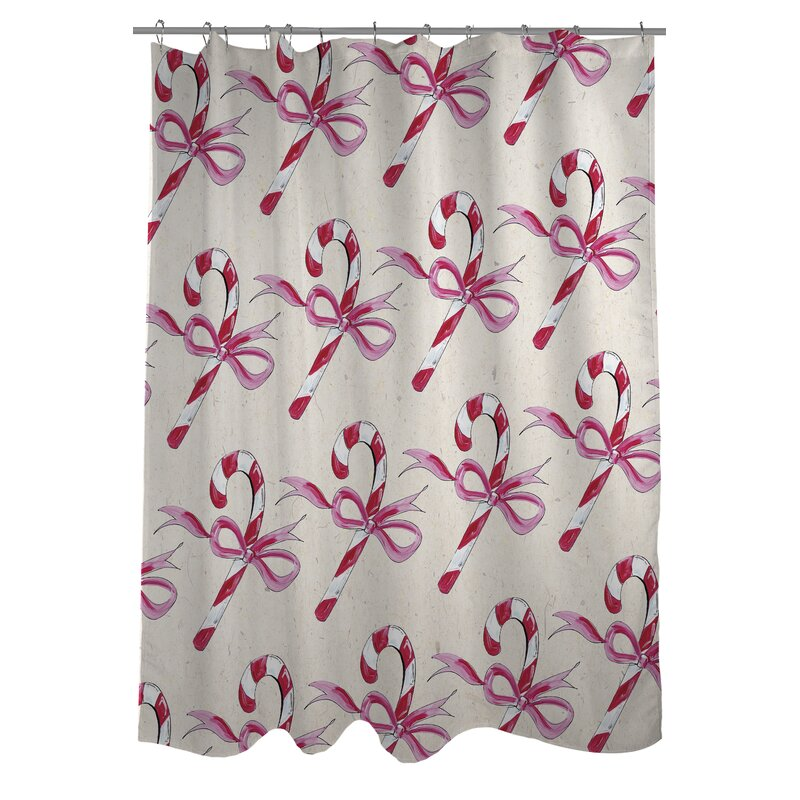 Candy Cane Bows Shower Curtain