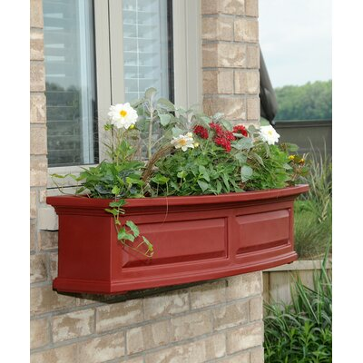 Kentshire Self Watering High-Grade Polyethylene Window Box Planter Charlton Home Color: Red, Size: 10