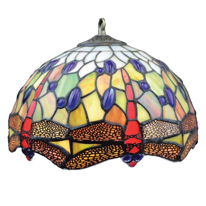 loxton lighting 30 cm lampenschirm dragonfly aus glas. Black Bedroom Furniture Sets. Home Design Ideas