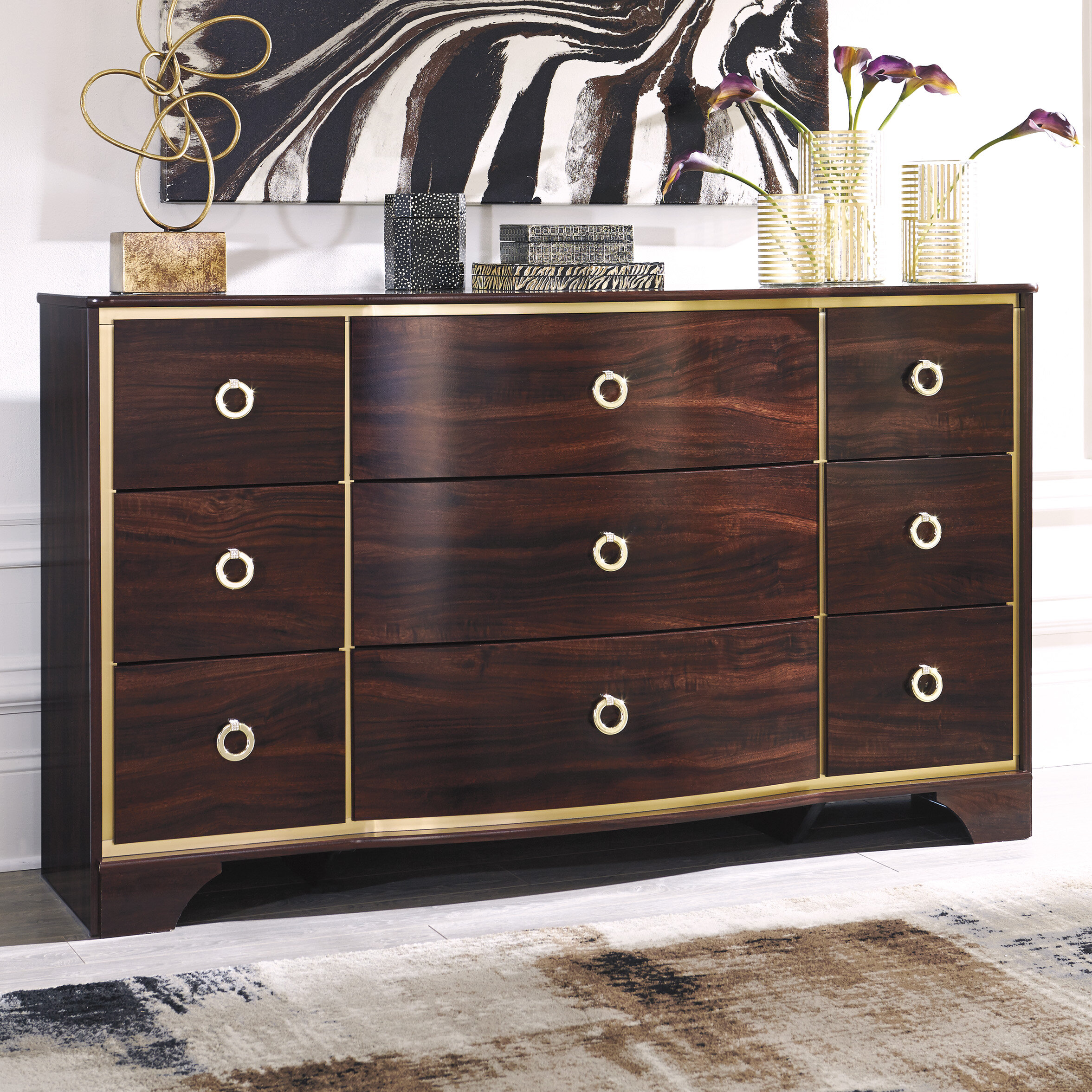Willa Arlo Interiors Bevis 9 Drawer Dresser U0026 Reviews | Wayfair