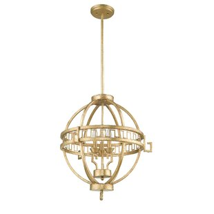 Wadley 3-Light Globe Pendant by Everly Quinn