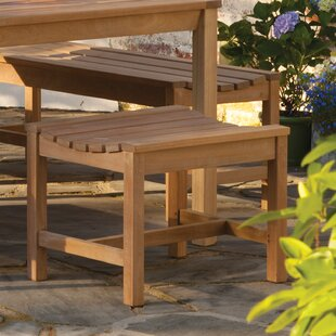 Siena Backless Wood Picnic Bench by Beachcrest Home