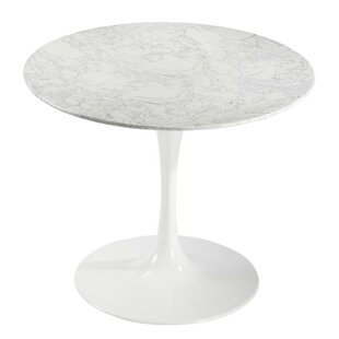 Sariah Artificial Marble Dining Table Ivy Bronx
