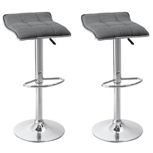 Wade Logan Caseville Adjustable Height Swivel Bar Stool (Set of 2)