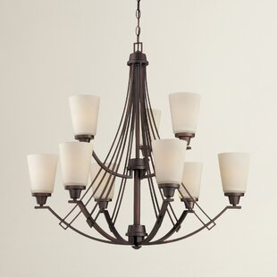 Latitude Run Simpson 9-Light Shaded Chandelier