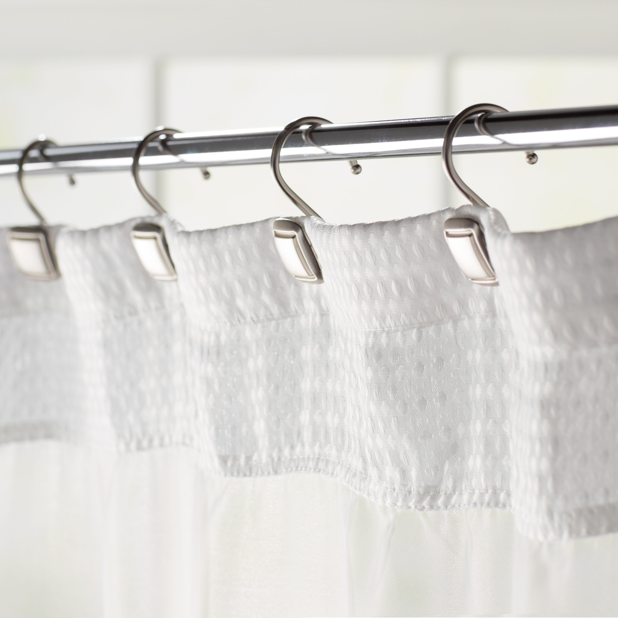 Burnett Square Wall Mounted Shower Curtain Hooks Reviews Wayfair
