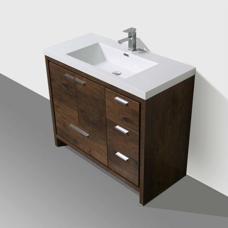almendarez free standing modern 41 rectangular single bathroom