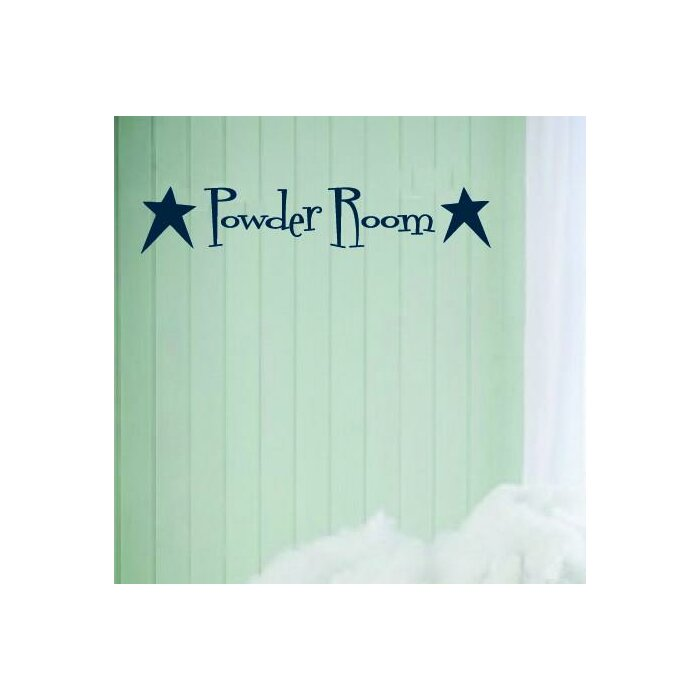 Norcott Powder Room With Primitive Stars Vinyl Wall Decal