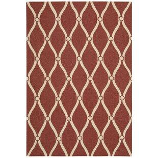 Merganser Hand-Tufted Red/Beige Indoor/Outdoor Area Rug