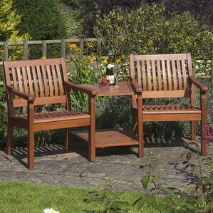 willington 2 seater wooden love seat - Wooden Garden Furniture Love Seats