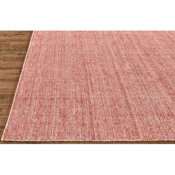 Ebern Designs Sophie Hand Knotted Wool Pink Area Rug Wayfair Ca