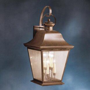 Darrah 6-Light Glass Shade Outdoor Wall L..