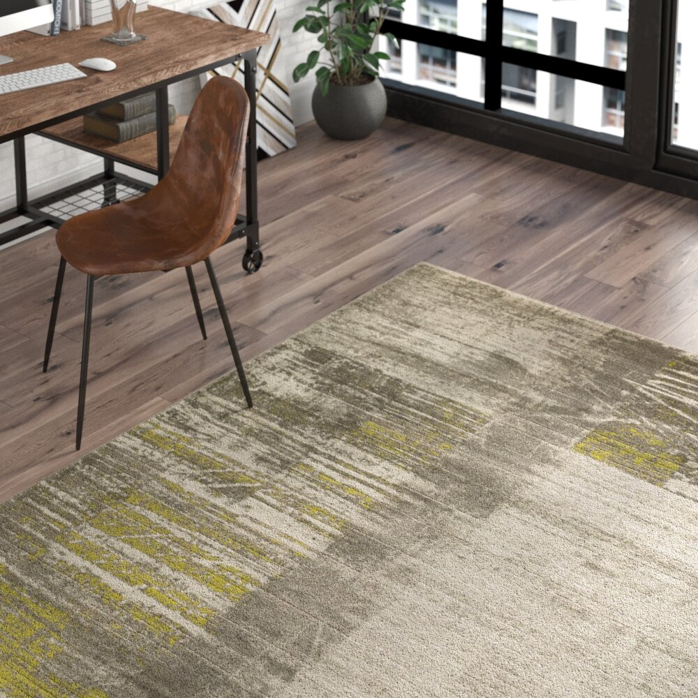 Trent Austin Design Chartwell Abstract Gray Olive Green White Area Rug Reviews Wayfair