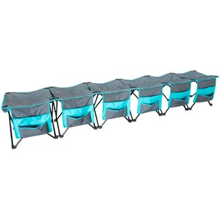 Fabiola 6 Person Curved Camping Bench
