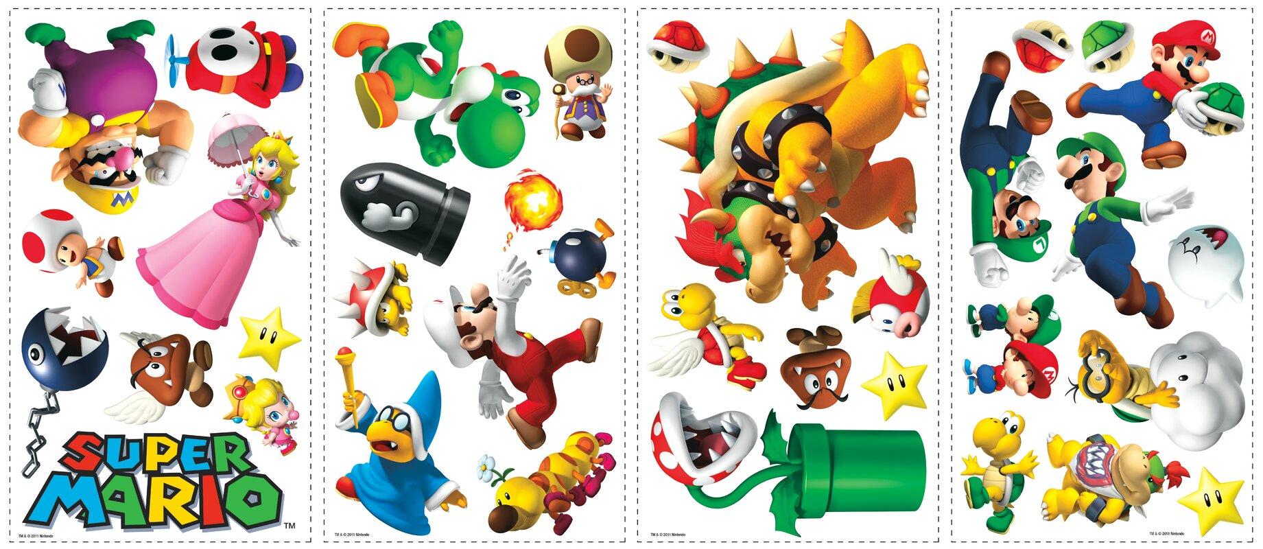 Beautiful Popular Characters Super Mario Wall Decal Part 28