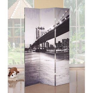 Galipeau Bridge Scenery 3 Panel Room Divider by Ebern Designs