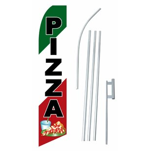 Pizza Polyester 15' X 2'6 Flag Set by NeoPlex
