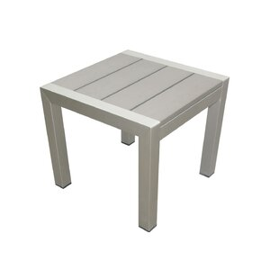 Lawler Highly Functional Easy Movable Outdoor Aluminum Side Table
