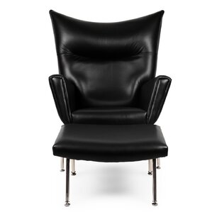 wingback leather chairs you'll love | wayfair