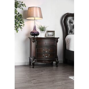 Astoria Grand Pineview 3 Drawer Nightstand