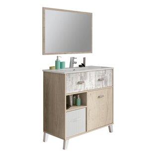Abeer 820mm Free-Standing Single Vanity Unit By Ebern Designs