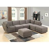Anneluise 124 Reversible Modular Sectional with Ottoman by Latitude Run®