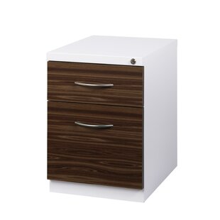 Zepeda Deep Pedestal 2-Drawer Mobile Vertical Filing Cabinet