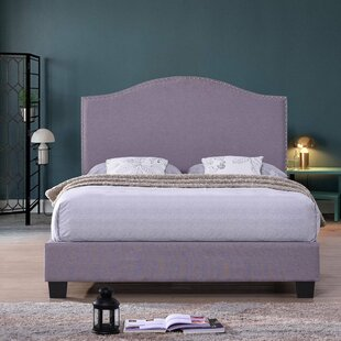 Queens Linen Upholstered Platform Bed by Charlton Home