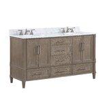 Montauk 60 Double Bathroom Vanity Set by BEMMA