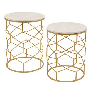 Olivares Marble 2 Piece Nesting Tables
