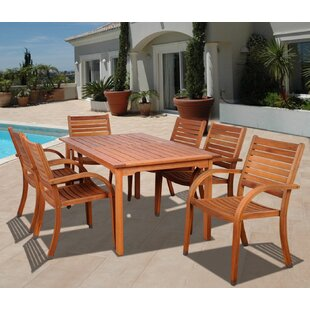 Beachcrest Home Frye 7 Piece Dining Set