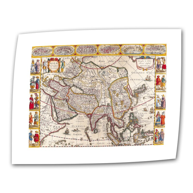 Antique Maps 'Map of Asia' by Guillaume Danet Graphic Art on Rolled Canvas