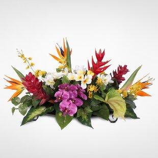 faux tropical centerpieces wayfair rh wayfair com  tropical floral table centerpieces