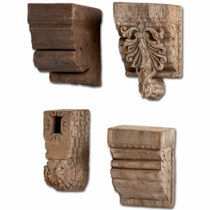 4 Piece Wood Sconce Set
