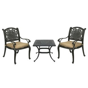 Champigny 3 Piece Bistro Set with Sunbrel..
