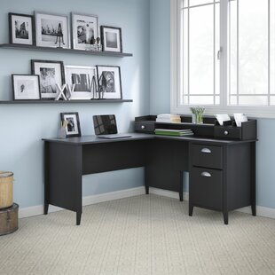 Where buy  Connecticut L-Shaped Desk with Hutch By Kathy Ireland Office by Bush