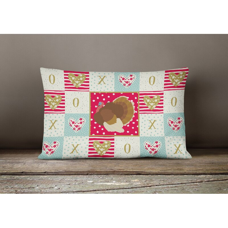 The Holiday Aisle Rudyard French Turkey Dindon Love Outdoor Rectangular Cushion With Filling Wayfair