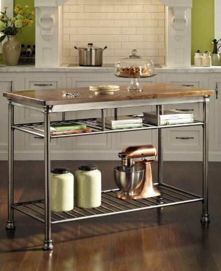 Trent Austin Design Haleakal Kitchen Island With Butcher