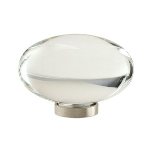 Glacio Oval Glass Knob
