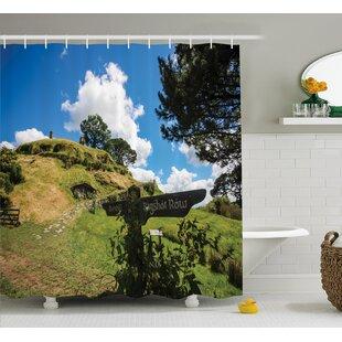 Hobbits Overhill Hobbit Village Single Shower Curtain