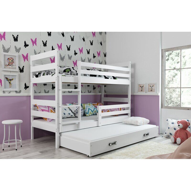 Sarina Bunk Bed with Drawer and Trundle