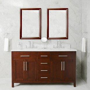 Vanleer 60 Double Bathroom Vanity Set by Wrought Studio