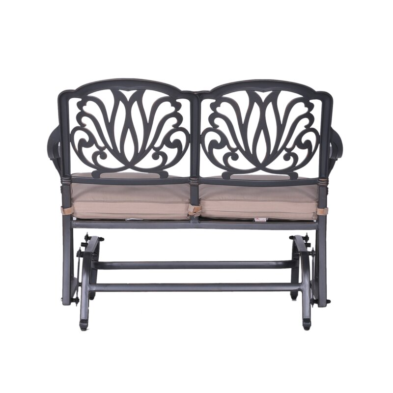 Fleur De Lis Living Quintin Glider Bench With Cushions Wayfair