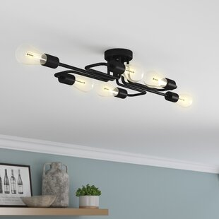 Kinnerly 6-Light Semi Flush Mount by Trent Austin Design