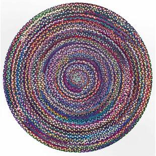 Christian Hand-Braided Blue/Purple Area Rug by Trule Teen
