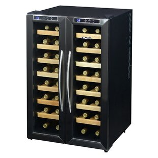 32 Bottle Dual Zone Freestanding Wine Cooler by NewAir