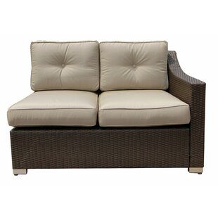 World Wide Wicker Tampa Loveseat with Cus..