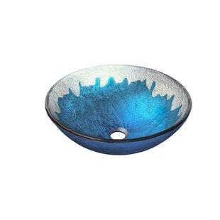 Check Prices Diaccio Glass Circular Vessel Bathroom Sink By Novatto