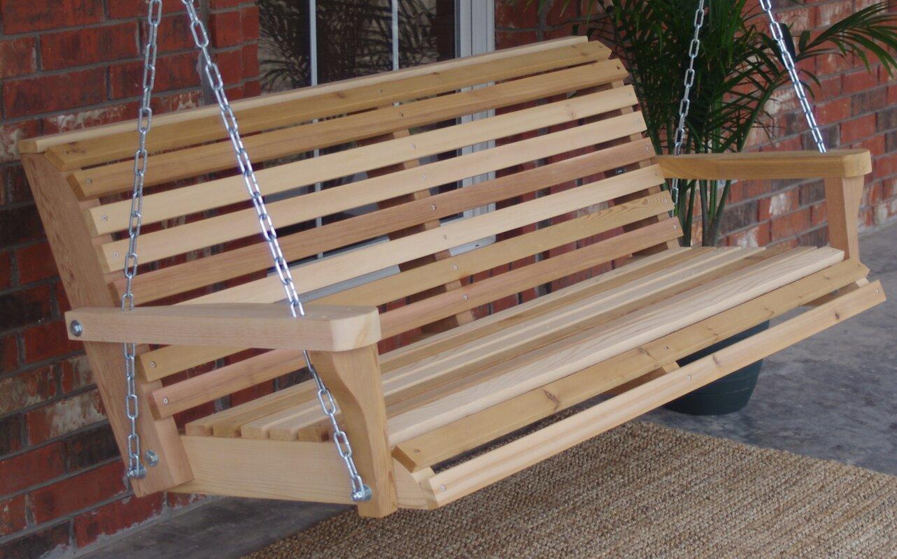 Hinkel Classic Cedar Porch Swing Highland Dunes